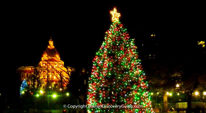 Boston Christmas Tree Lighting Events Schedule 2017