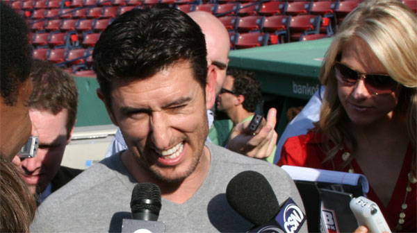 Nomar addresses the media