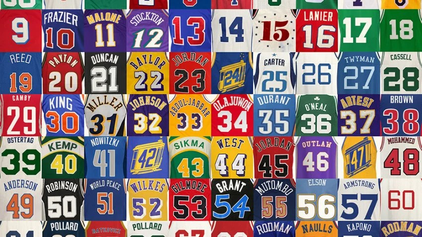Nba Players Jersey Number 1