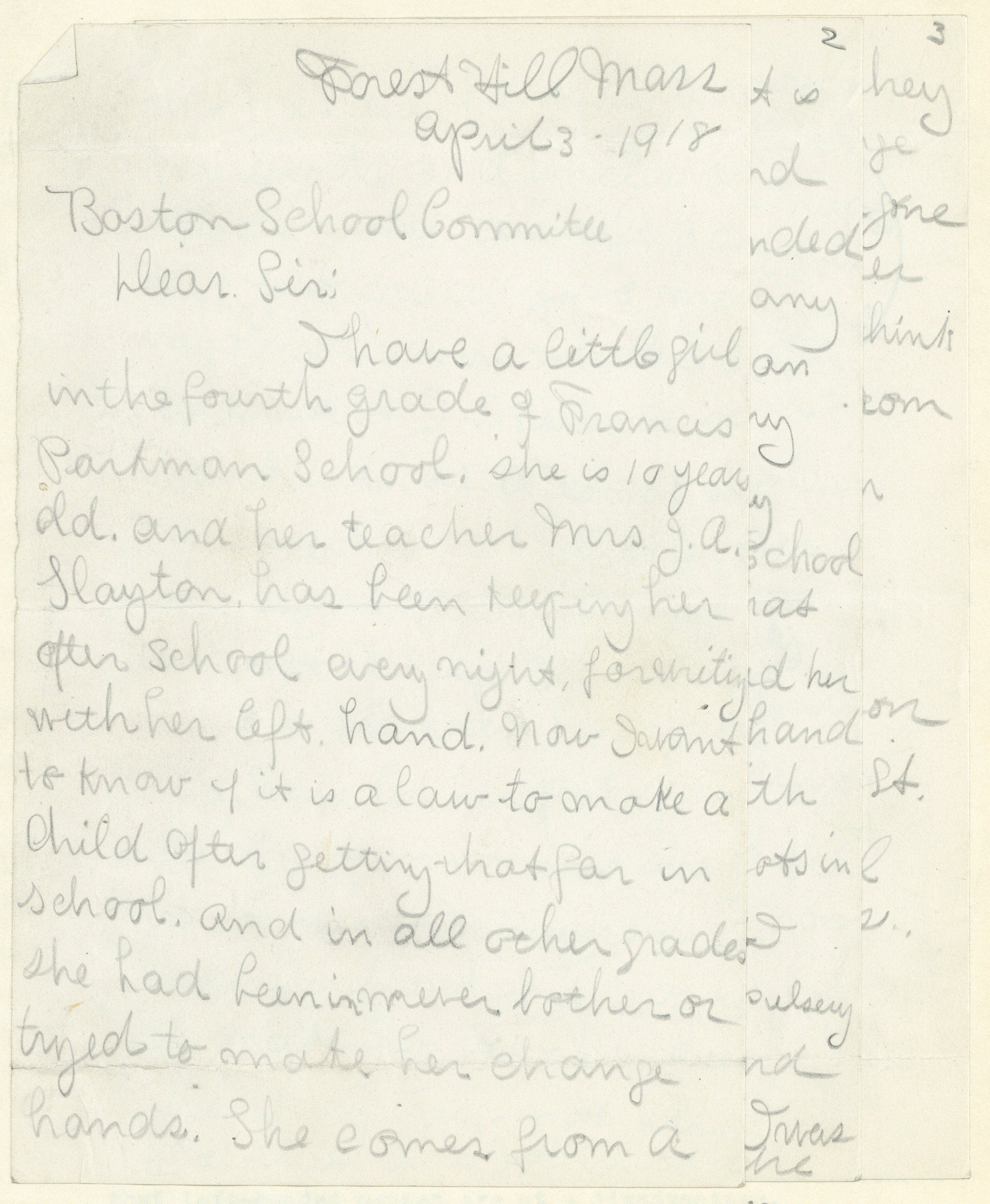 Notes From The Archives National Handwriting Day And The