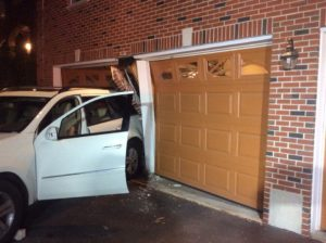 Car into structure
