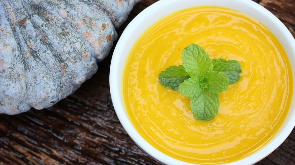 Roasted Blue Hubbard Squash Soup   Recipe from BostonChefscom  recipes from Bostons best
