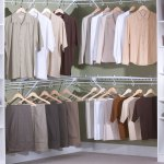 White Wire And Shelve Walk In Closet Design Boston Closet