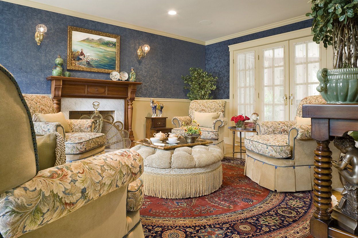 Traditional English Living Room Gallery  Boston Design