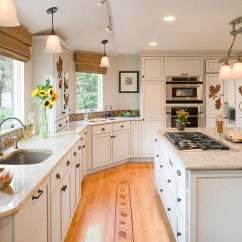 Arts & Crafts Kitchens Compost Pail Kitchen Transitional Interior Design: Nature Inspired Home ...