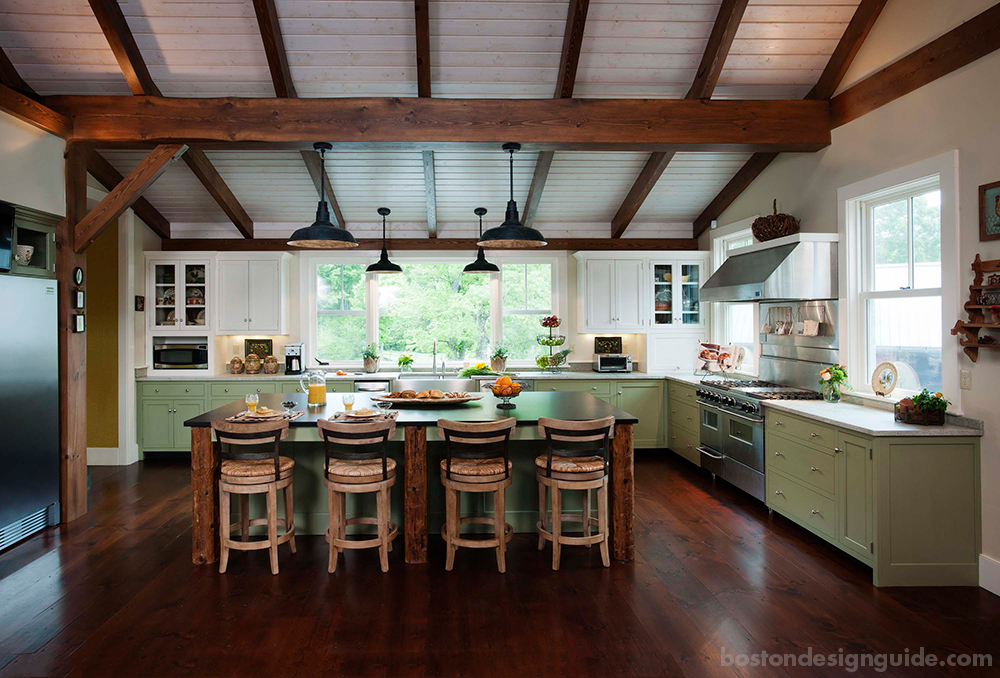 Rustic Kitchen Hingham Ma