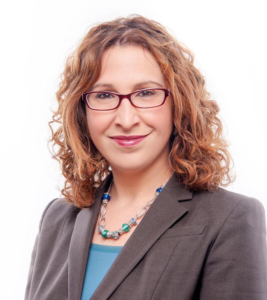 woman on white background lawyer professional headshot boston