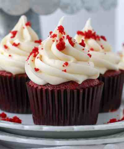 One Bowl Red Velvet Cupcakes (no mixer required!)