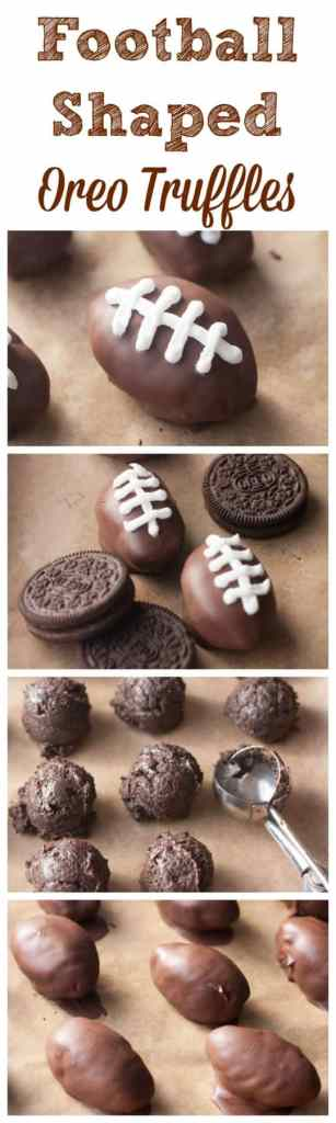 These football shaped oreo chocolate truffles are perfect for the Big Game!