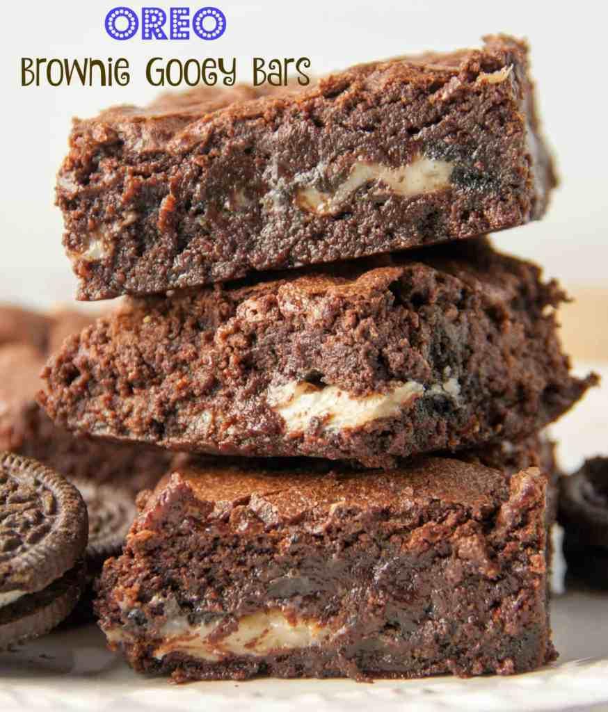 oreo brownie gooey bars