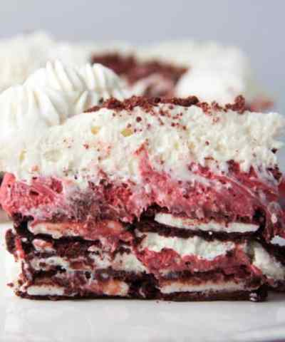 Red Velvet Oreo Cheesecake Icebox Cake