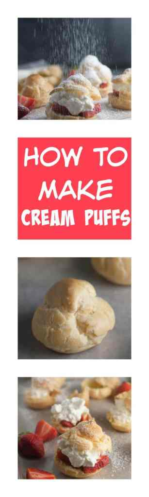 Learn how to make the best cream puffs with this step by step photo tutorial! These are so easy to make you will wonder why you don't make them more often!