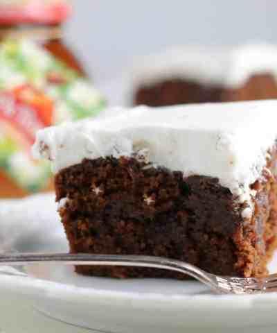Gingerbread Poke Cake (+Video!)