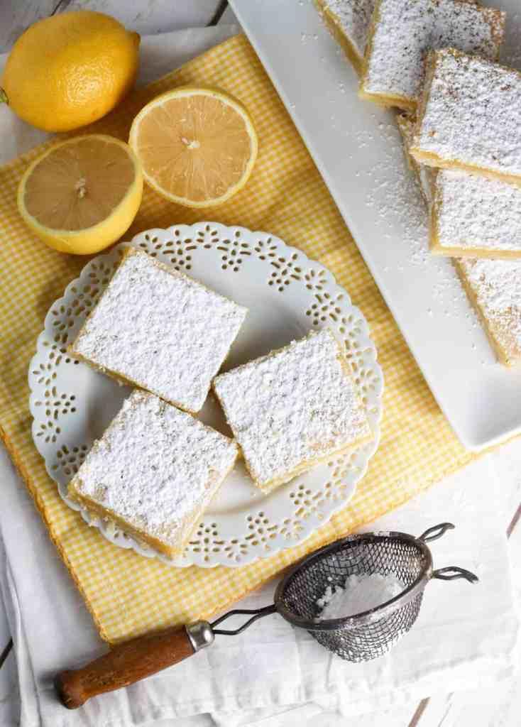 one bowl easy lemon squares