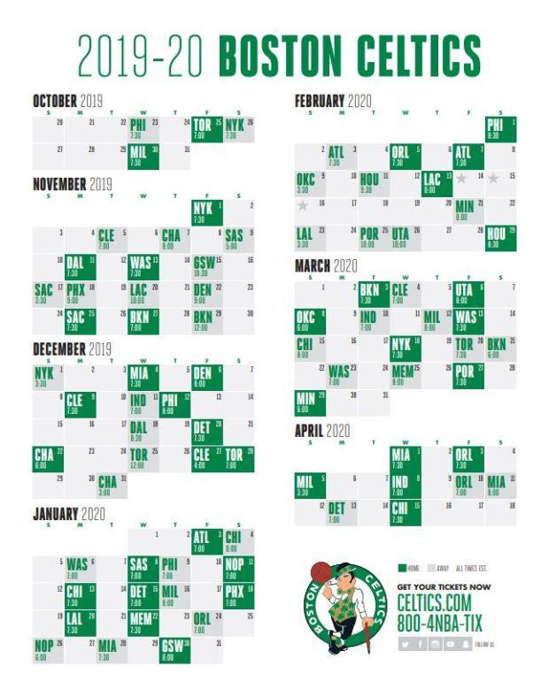 Celtics Schedule 2020.Celtics Schedule 2020 Schedule 2020 Hermanbroodfilm