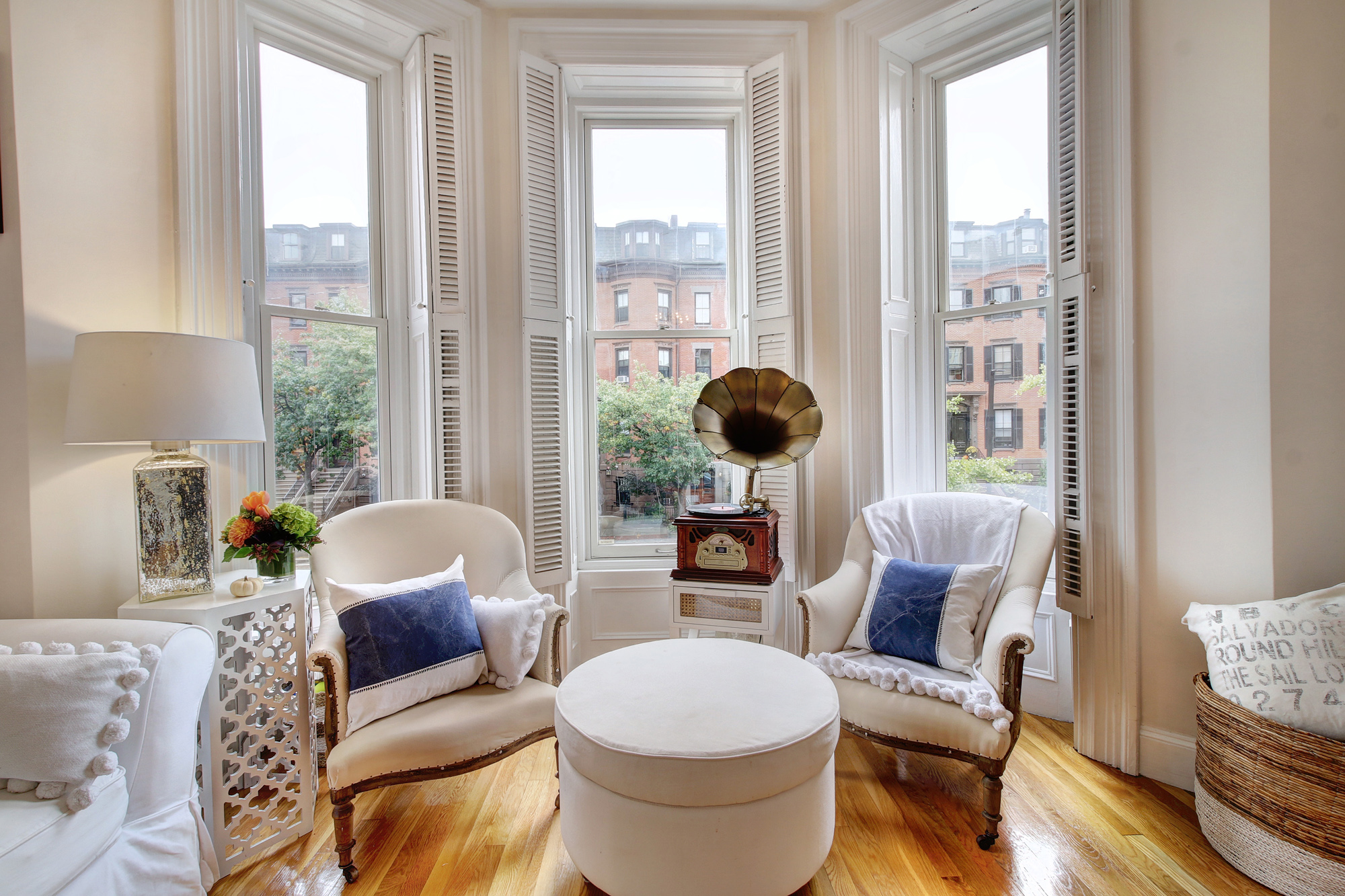 living room boston 4 chairs in instead of sofa home showcase south end condo is decked out for november 1 2018 ma bowfronted livingroom at the 501 columbus ave 3 courtesy realtor