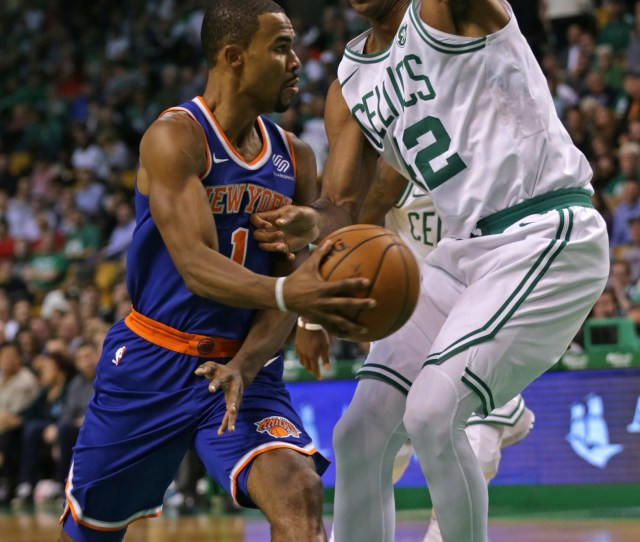 Curve Ball New Yorks Ramon Sessions Tries To Make A Pass Around Al Horford During Last Nights Game At The Garden