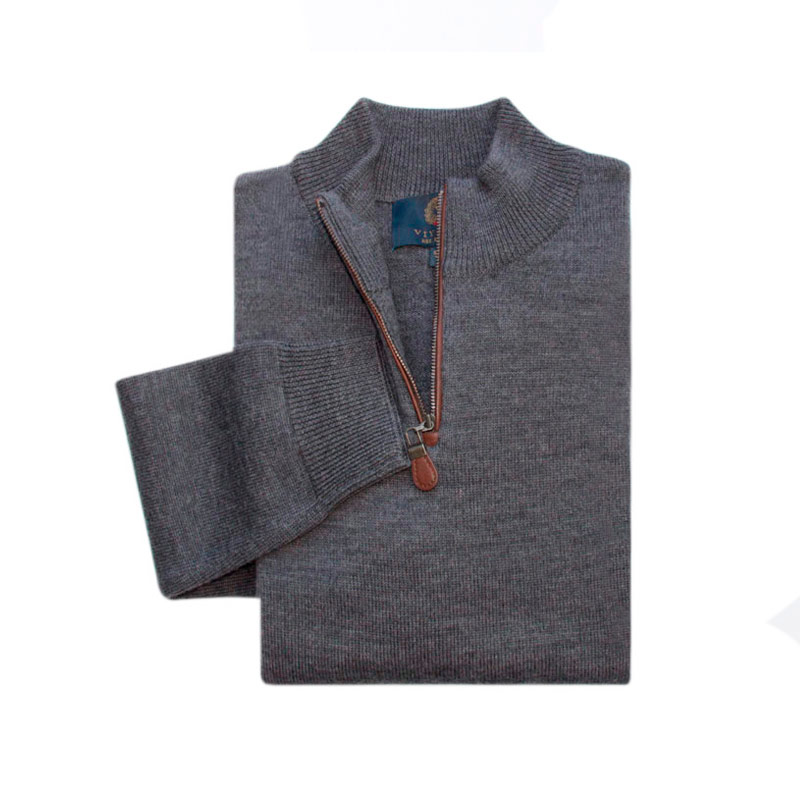 Sweater Cremallera Charcoal Gris