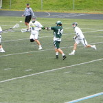 Billerica's Jeff Trainor rips a shot.