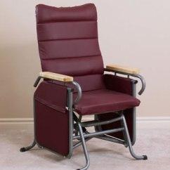 Broda Chair Leather Folding Wheelchairs Auto Locking Glider