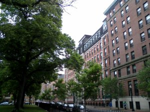 """The """"St. Elsewhere"""" Building, named for 'patron saint' of Boston Neck."""