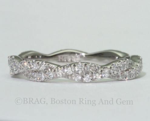diamond twist platinum eternity wedding band ring unique