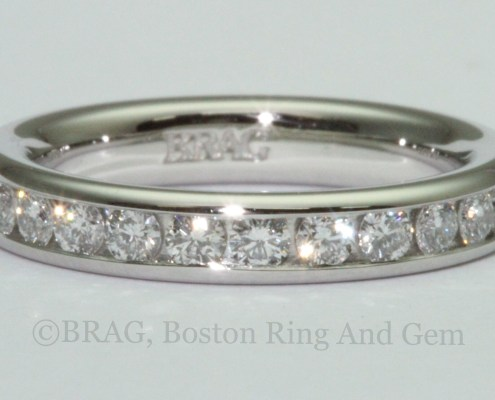 platinum diamond eternity wedding band ring channel classic traditiional