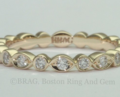 yellow gold and diamond eternity band