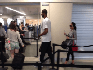 Lamarcus Aldridge at Logan Airport
