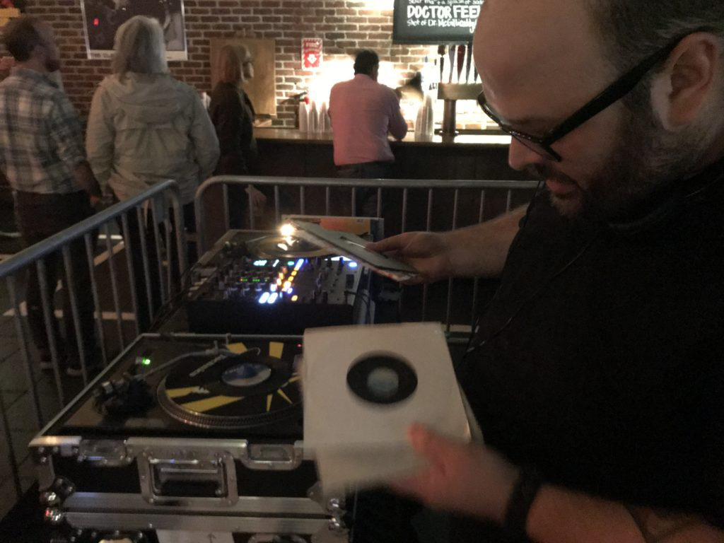 DJ Panda spins vinyl records at Brighton Music Hall