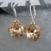 Light Peach Drop Earrings