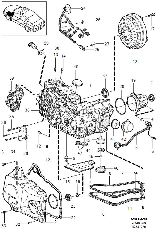 1999 Volvo S80 Speed sensor. Transmission, Automatic