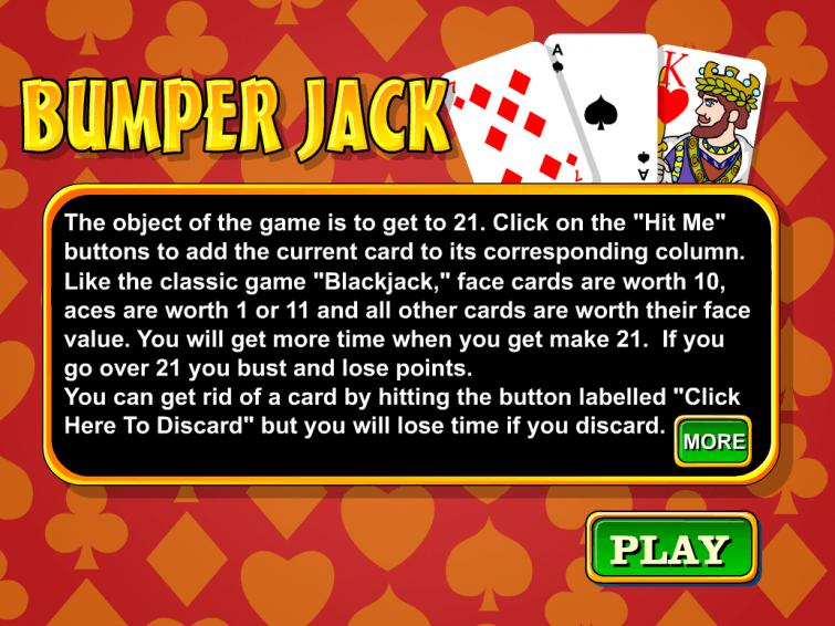 bumper jack blackjack card game