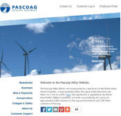 Pascoag Utility District, Power Utility Web Design
