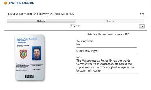 Massachusetts Police ID Game
