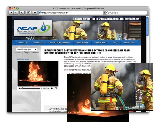 ACAF Systems, Inc. - Homepage Design