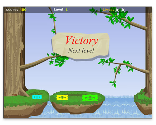 "Charlotte's Web Mini Game - Gameplay ""Victory"" Screen"