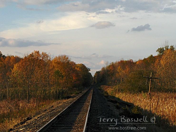 Sugar Loaf, NY. View down the tracks