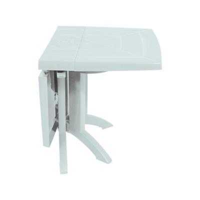table rectangulaire de jardin 160x110 cm pliable blanc