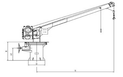 SMRF21 manual slewing liferaft davit