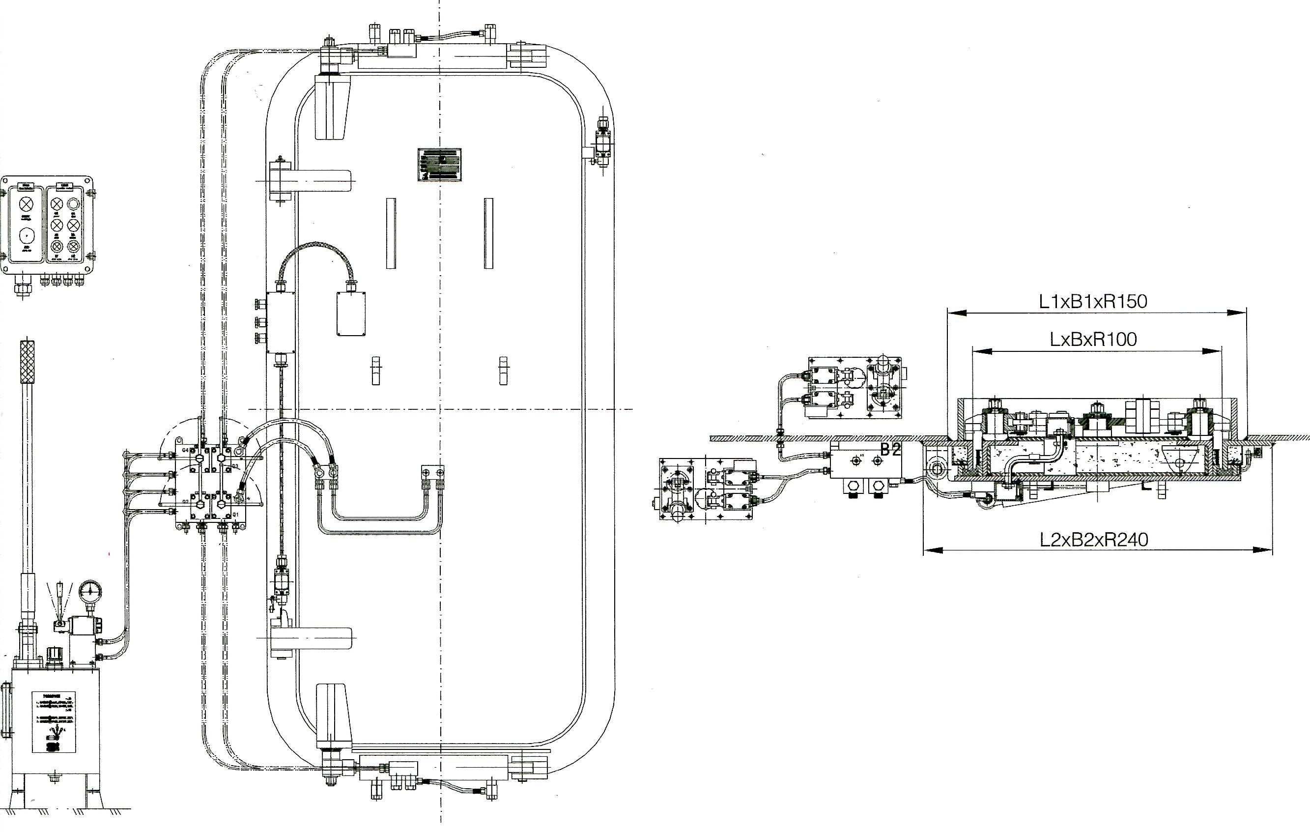 Class A60 Hydraulic hinge pressure watertight door