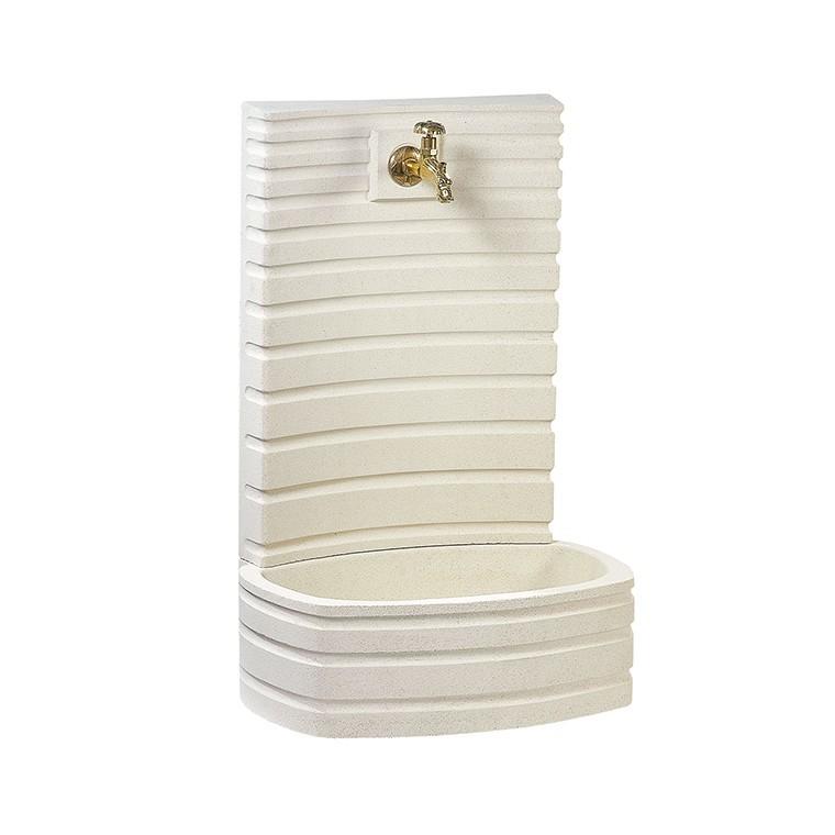 fontaine de jardin murale blanc