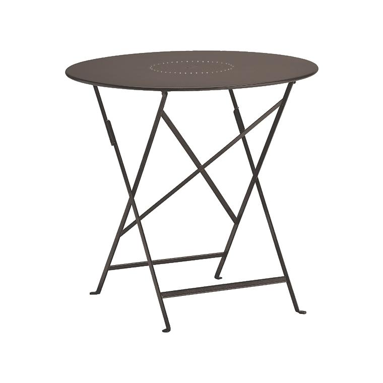 table de jardin ronde pliante bistro fermob rouille 77 x h 74 cm