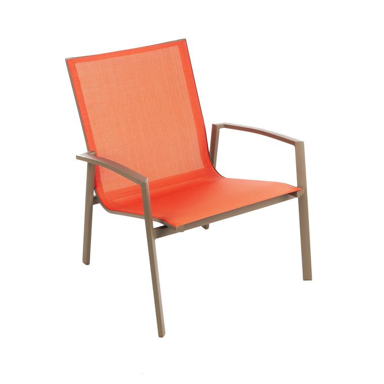 fauteuil bas cameline orange fauteuils de jardin et poufs autres marques mobilier botanic