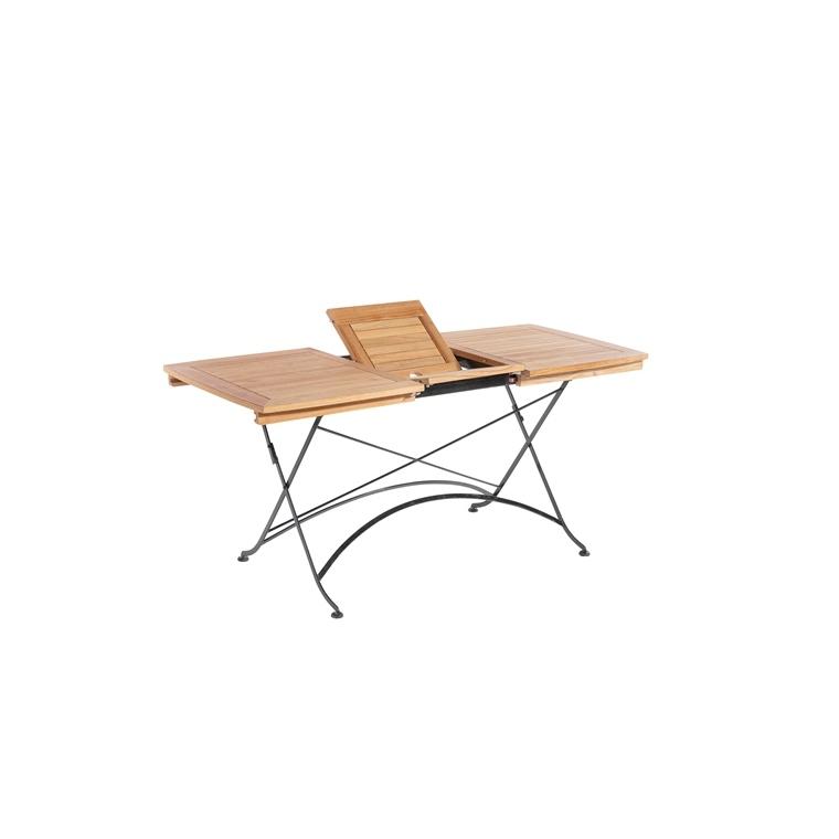 table pliante extensible rectangulaire norma 120 160 x 70 x 74 cm