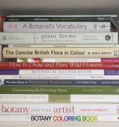 some of my books helpful to those wanting to understand more about botany for artists and botanical illustration [ 1000 x 1000 Pixel ]