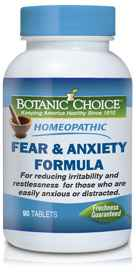 Homeopathic Fear Anxiety 90 tablets