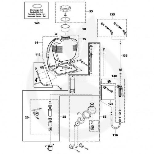 sprayer de spate Pulverizator manual SOLO 473D, 12 litri