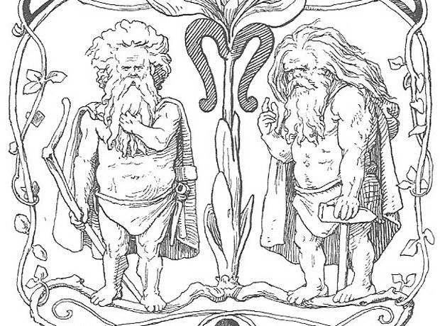 Image: Loren Frølich, from Den ældre Eddas Gudesange by Karl Gjellerup, 1895.