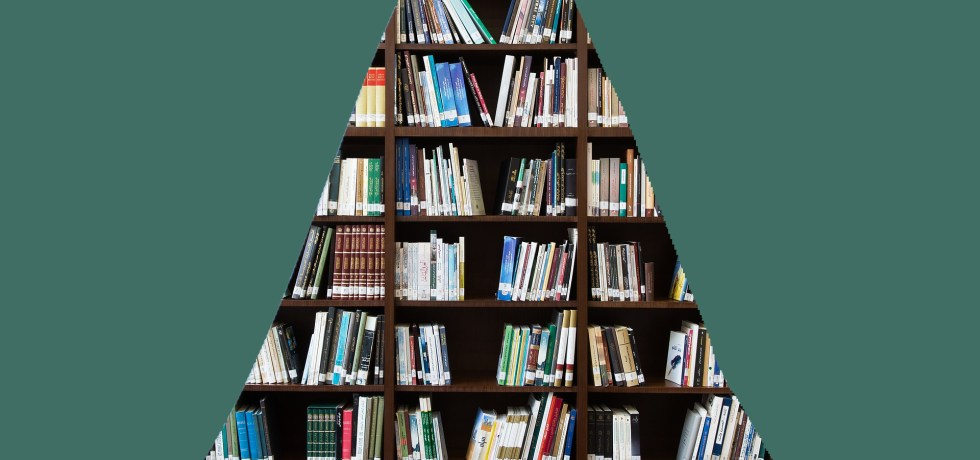 A normal distribution with area under the curve bookshelf